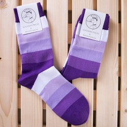 Носки big strips violet р.40-48